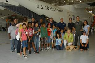 Summer camp students visit the Opa Locka Coast Guard Station.