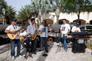 Miami Lighthouse Better Chance Music Production Program™ Musicians play before the walk