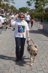 CEO Virginia Jacko and guide dog Kieran
