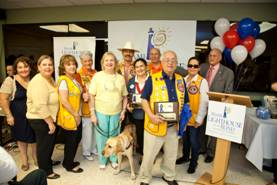 CEO Virginia Jacko with the Miami Guatemala Lions Club