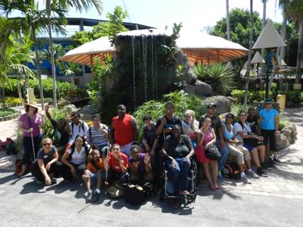 Transition Summer camp students at the Miami Seaquarium.
