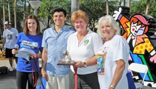 Emcee Sasha Andrade, Chairman of the Board Michael Silva, Commissioner Sally Heyman And Carol Russo