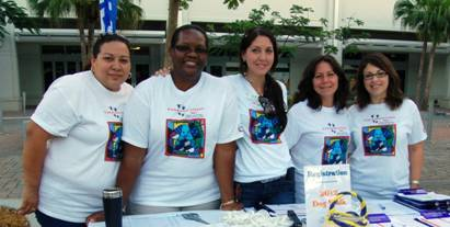 Miami Lighthouse for the Blind registration staff