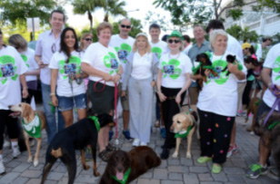 Emcee John Morales, Aventura Commissioner Enbar Cohen, Grand Marshal Miami-Dade Commissioner Sally Heyman, Board Chair Agustin Arellano Jr., Director Angela Whitman, Director Steven Solomon, CEO Virginia Jacko, Director Lou Nostro and City of North Miami Beach Councilwoman Phyllis Smith
