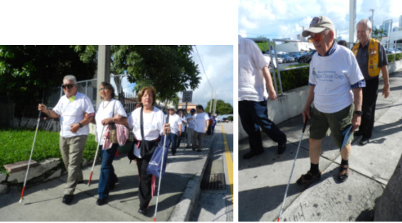 Miami Lighthouse clients participating in our White Cane Day Walk.