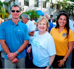 Dave Hageman, Guiding Eyes for the Blind, CEO the Blind, CEO Virginia Jacko and Senator Anitere Flores.