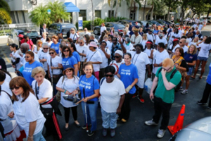 Miami Lighthouse clients, staff, sponsors and volunteers participated in the walk.