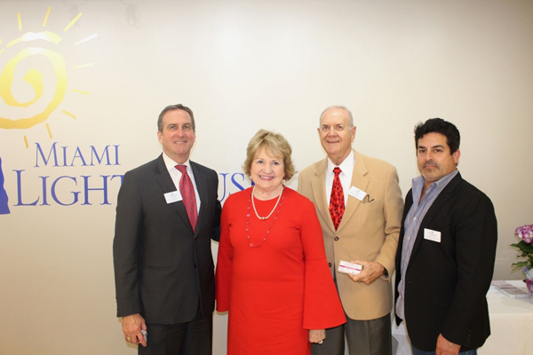 Miami Lighthouse Board Directors (left to right): Scott Richey, CEO Virginia Jacko, Dr. Stephen Morris and Alfred Karram, Jr.