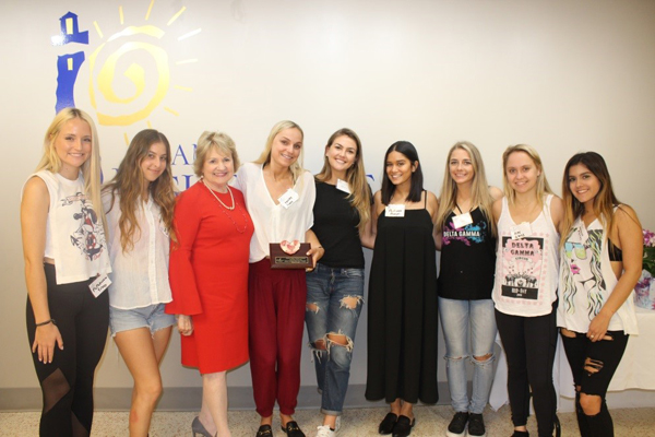 University of Miami Delta Gamma Sorority and CEO Virginia Jacko.