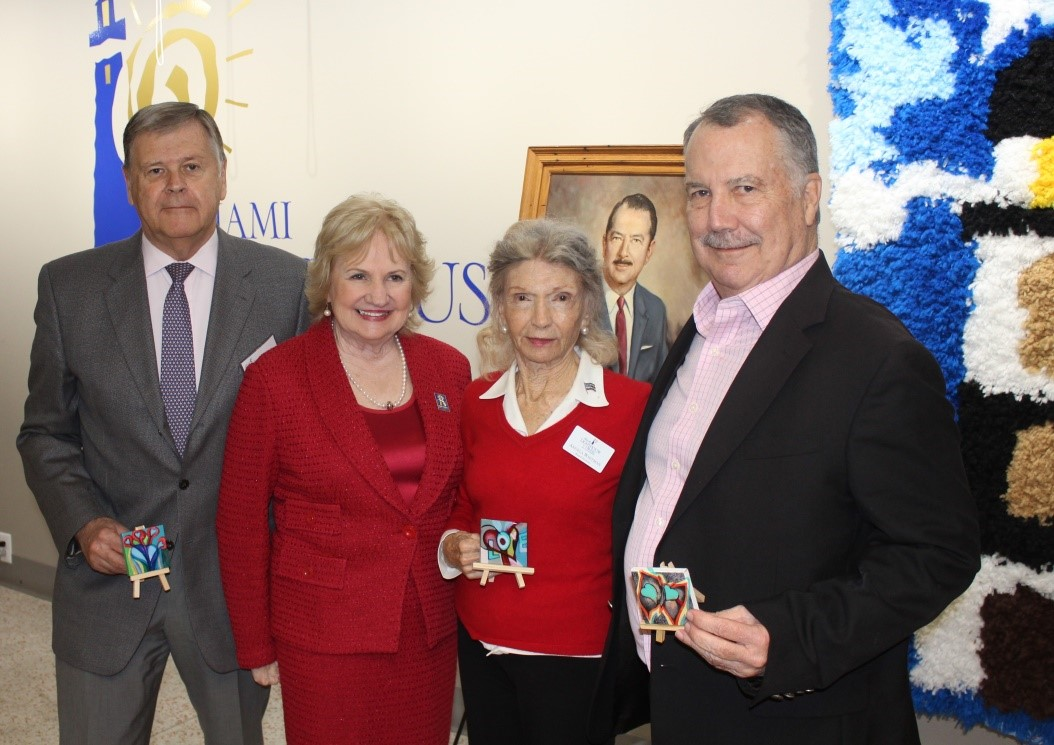 Miami Lighthouse Board Directors (left to right): Frank Voytek, CEO Virginia Jacko, Angela Whitman, and Peter Harrison