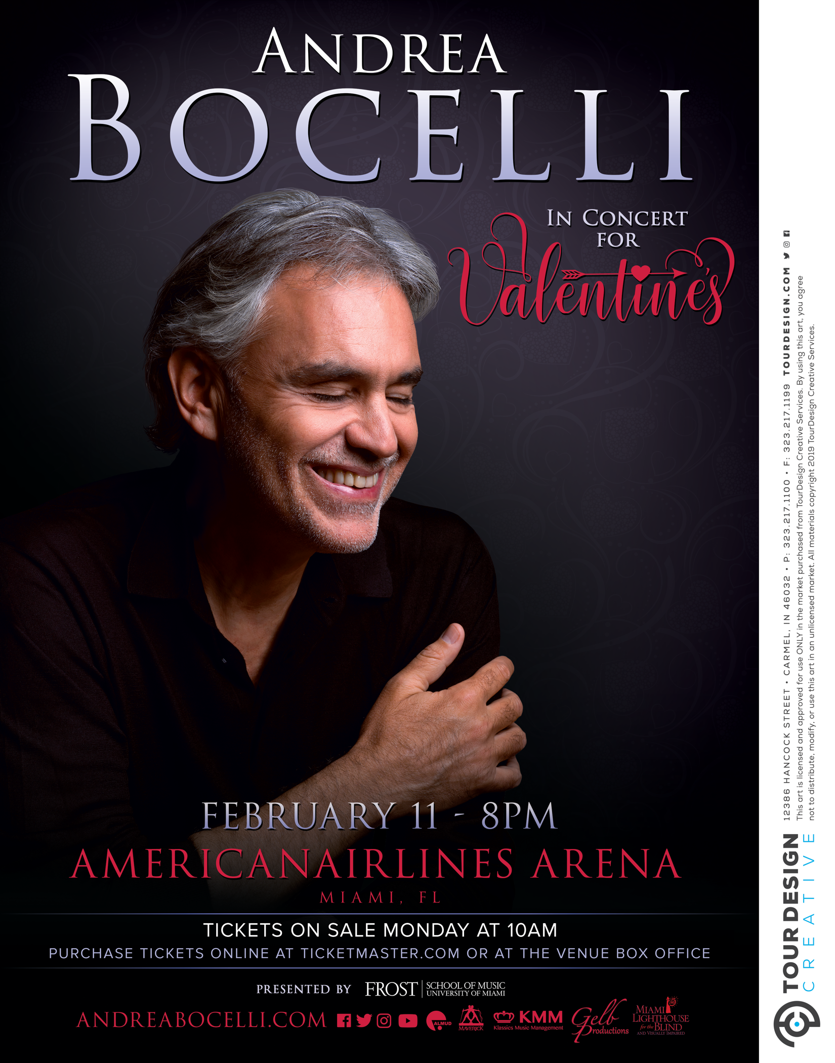 ANDREA BOCELLI ANNOUNCES ANNUAL CONCERT IN CELEBRATION OF VALENTINE'S DAY