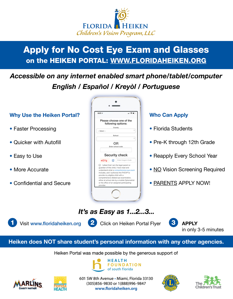 Apply for Free Eye Exam and Glasses