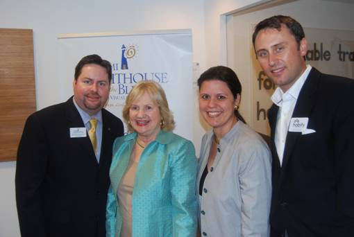 Kent Benedict, YPOL co-chair, Virginia Jacko, President and CEO Miami Lighthouse, Ana Maria Rodriguez, YPOL co-chair, and Christopher Block, Director of Operations at Habify.