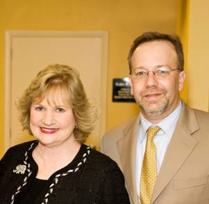Virginia A. Jacko, President & CEO Miami Lighthouse and Sander Dubovy, M.D., Miami Lighthouse Board Director