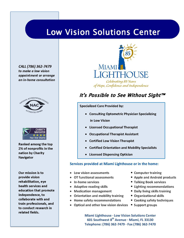 Low Vision Clinic - Services and Specialties
