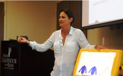 "Miami Lighthouse Director of Children's Programs Isabel Chica's presentation was entitled, ""The Developing Child with Visual Impairment"""
