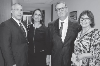 85th Celebration Co-chairs Ramón and Ali Casas and Louis and Janet Nostro at Northern Trust pre-gala event