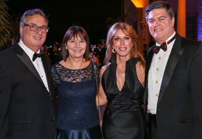 Board Chair Louis Nostro, Janet Nostro and Bill and Julia Beckham