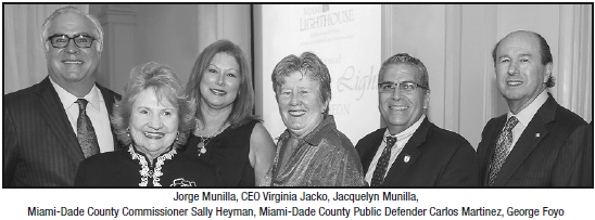Jorge Munilla, CEO Virginia Jacko, Jacquelyn Munilla, Miami-Dade County Commissioner Sally Heyman, Miami-Dade County Public Defender Carlos Martinez, George Foyo