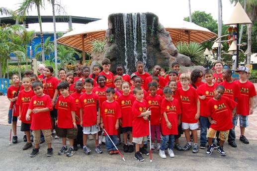 STAR Summer camp students at the Miami Seaquarium.