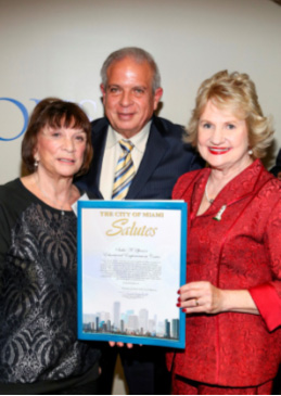 Senator Gwen Margolis and Mayor Tomas Regalado present special Salute to Virginia Jacko.