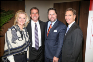 Sponsor Northern Trust: Jan Morrison, Board Directors Scott Richey and Kent Benedict, Honorary Director Ed Joyce.