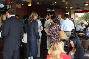Attendees enjoy networking