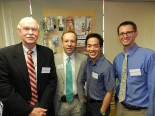 Harry Flynn, M.D., Professor of Ophthalmology; Sander Dubovy, M.D., Miami Lighthouse Board Director; Dr. Bradford Lee; Dr. Christopher Henry.