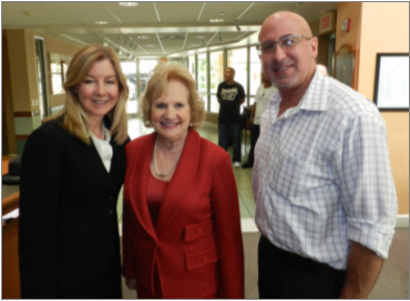 Judge Norma Lindsey with President & CEO Virginia Jacko and Judge Spencer Eig.