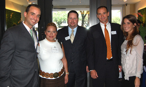 Carlos J. Smith, Erika Benedict, YPOL Co-Chair Kent Benedict, YPOL Co-Chair Agustin Arellano, Jr. and Nicole Bared