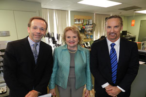 Board Directors Dr. Sander Dubovy and Dr. Thomas Johnson with CEO Virginia Jacko