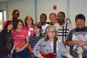 Commissioner Bell visits students in the Better Chance Music Production Program™