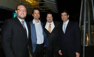 Cameron Sisser, Bruce Wiggins, YPOL co-chair Kent Benedict and YPOL Committee Member Michael Jimenez.