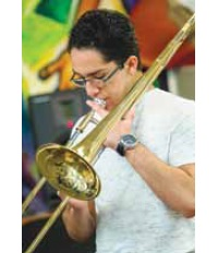 Music Program trombonist Christopher