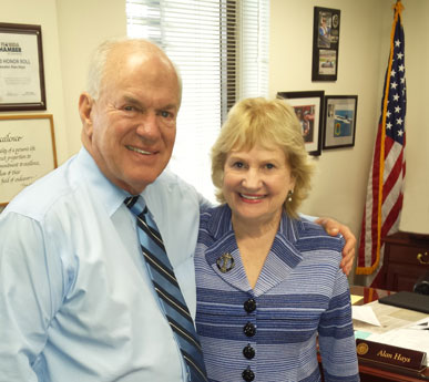 President & CEO Virginia Jacko meets with Florida State Senator Alan Hayes, Chair of Appropriations Subcommittee on General Government, in Tallahassee during Dade Days 2015.